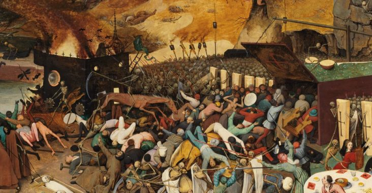 Bruegel painting with triumphant skeletons