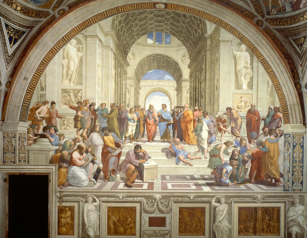 Schoold of Athens, fresco by Raphael at Vatican