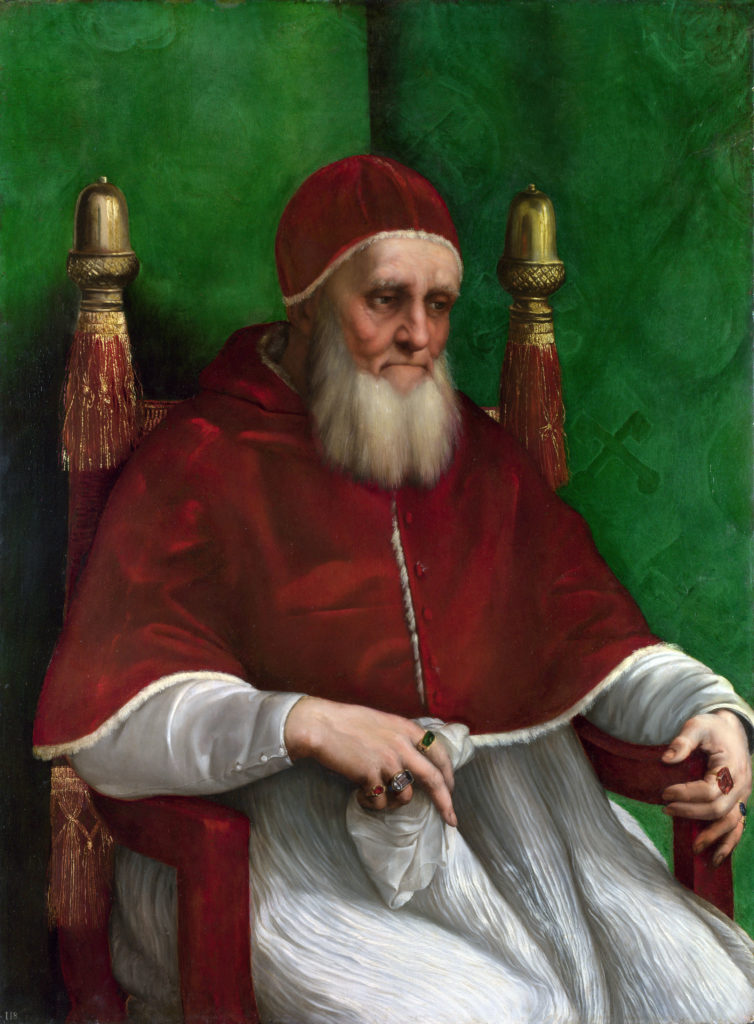 Portrair of pope Julius II by Raphael